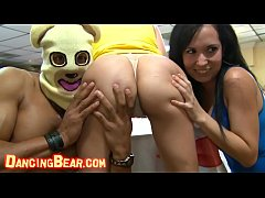 DANCING BEAR - Group Of Horny Hoes Taking Dick From Male Strippers, CFNM Style