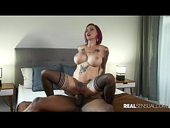 Sensual Tattooed Redhead Anna Bell Loves BBC - Real Sensual