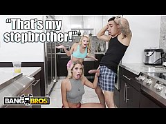 BANGBROS - Lesbians Khloe Capri and Riley Star Fuck Step Brother Bruno Dickemz