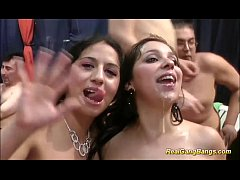 cute girls in her first gangbang orgy