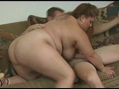 fat wife with huge tits sucks off big cock