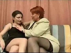 Sexy mature mother and a young girl(2)