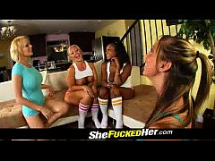Lesbian gang bang featuring Kelly Divine and other sluts