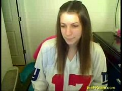 Great masturbation of horny teen on web cam