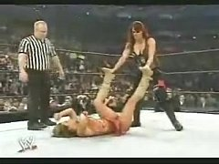 Lita Crotch Stomps Mickie James