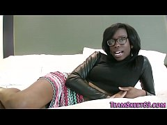Pounded black teen jizzed