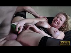 PASCALSSUBSLUTS - BDSM babe Anita Vixen eats cum after anal