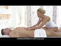 RELAXXXED - Oily massage turns to erotic sex with Serbian blonde Cherry Kiss