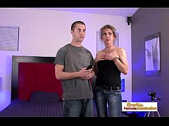 The cable guy gets lucky with one of his slutty customers