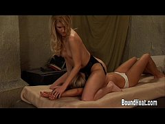Mistress Dominates With Facesitting On Tied Up Slave