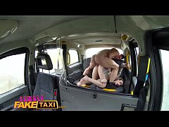 Female Fake Taxi French guy gives throat fucking and hard sex to horny Babe
