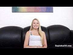 Sunny Blonde Teen's First Porn Audition!