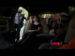Stretch Limo Hardcore Threesome With Leggy Kayla Green & Angelina Brill GP061