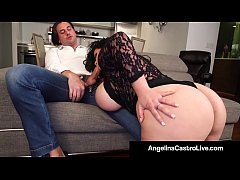 Cuban Export Angelina Castro & Italian Fuck Friend Roberta Gemma Fuck & Suck a Big Cock For Supper until it Milks On Their Huge Tits! Full Video & Live @AngelinaCastroLive.com!