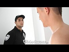 Clip sex HD - ManRoyale Super hot twink get fucked by the security guard