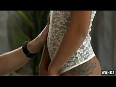 Slim Hottie Tantalizes Her Man with Sexy Lingerie HD