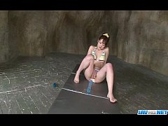 Dashing Japanese model Tomoka Sakurai plays in solo