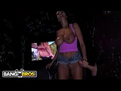 BANGBROS - Big Tits Ava Addams Sucks 3 Cocks At Glory Hole