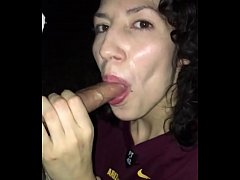 Homemade Blow job outside by Latina amateur
