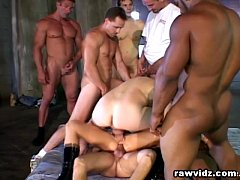 Five Cocks For One Slut Rough Gangbang DP FUcking