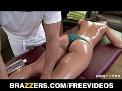 Oily teen Remy Lacroix is rubbed and spanked by her masseur