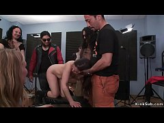 hot european brunette slave juliette march wrapped in plastic mouth banged in elevator