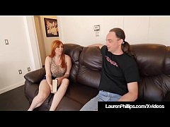 feisty fire crotch lauren phillips gets some instructions from her fuck teacher who jams his rod in her moist mouth and way in her red hairy pussy