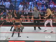 2005 10-3 Wwe Raw Bra & Panties 3 On 2 Match - Torrie Wilson, Candice Michelle & Victoria Vs Trish Stratus & Ashley