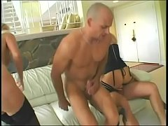 Two gorgeous blonde milfs with great tits and asses Nicki Hunter and Nicoletta get fucked by two lucky guys