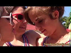 Patriotic teens banged