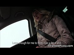 Alluring blonde babe Victoria Puppy gets fucked hard in the car