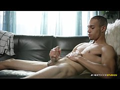 Young Amateur Black Dude Jerking Uncut Cock & Ass Plays