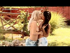 Lesbian kissing and pussy licking with two teen hotties
