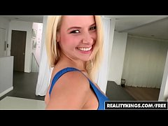 Sexy blonde teen (Anikka Albrite) gets on the kitchen table - Reality Kings