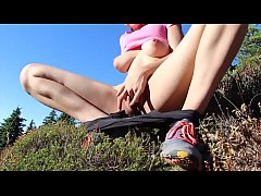 Fingering pussy outdoor caught - more video on WORLDSEXCAMGIRLS.com