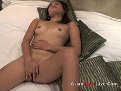 Asian webcam bar girls from Asiancamslive.com with dildo in pussy