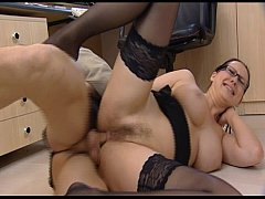Porn Star is fucked hard in office -