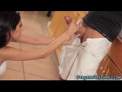 Stepdaughter gets facial