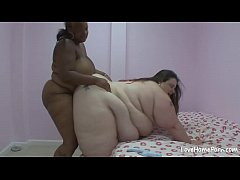 BBW and her hot friend are having sex
