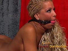Behind the scenes footage of Natasha Sweets femdom bdsm sessions-6