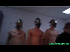 Newbie soldier humiliated in the barracks