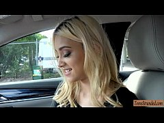 Pretty blonde teen babe Uma Jolie hitchhikes and pounded