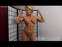 Naked Female Bodybuilder Pinup Girl