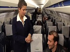 Clip sex Charming brunette air-hostess Alyson Ray proposed passenger to poke her juicy ass after  scheduled flight
