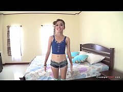 little small tiny teenie petite thai teen creampie
