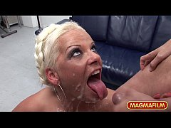 MAGMA FILM Blonde German slut in amateur gangbang