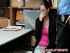 Crazy Shoplifting Amateure Backroom Spy-Cam Sex
