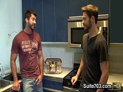 Gay plumber Berke gets humped by Tommy at work only on Suite703