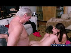 Gigi Flamez and Sally Squirt with a huge dick for pleasure