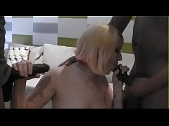 First time interracial Group Creampie Facial for innocent tight Tia